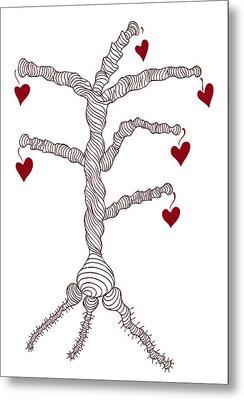 Love Tree Metal Print by Frank Tschakert