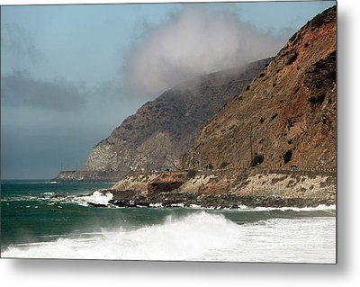 Low Clouds On The Pacific Coast Highway Metal Print by John Rizzuto
