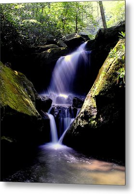 Lower Grotto Falls Metal Print by Frozen in Time Fine Art Photography