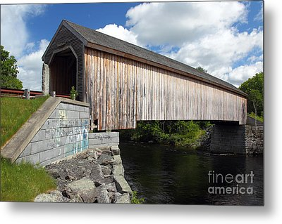 Lowes Covered Bridge Metal Print by Rick Mann