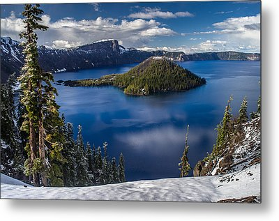 Luminous Crater Lake Metal Print by Greg Nyquist