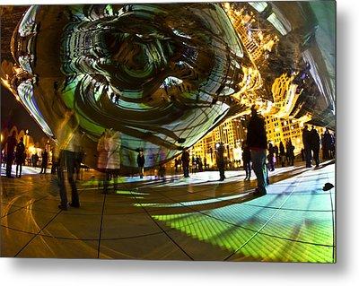 Luminous Light Show Under The Bean Metal Print by Sven Brogren