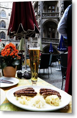 Lunch Time In Munich Germany Metal Print by Tanya  Searcy