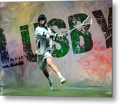 Lusby Lacrosse Metal Print by Scott Melby