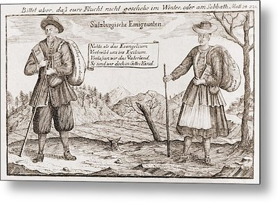 Lutheran Religious Refugees, Fleeing Metal Print by Everett