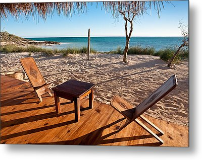 Luxurious Terrace On The Beach Metal Print by Pierre-Yves Babelon