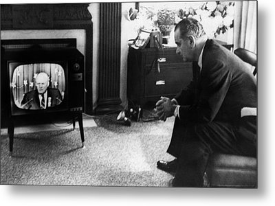 Lyndon Johnson. Us Senator And Future Metal Print by Everett