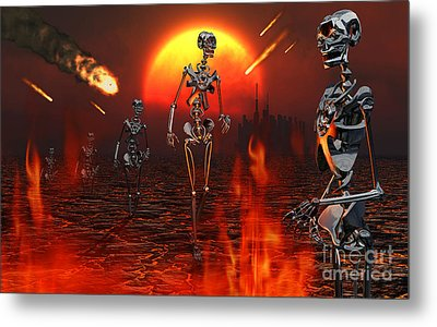Machines Rise To Take Their Place Metal Print by Mark Stevenson