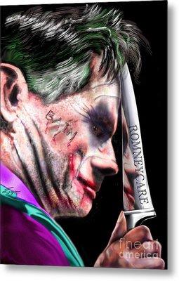 Mad Men Series 2 Of 6 - Romney The Joker Metal Print by Reggie Duffie