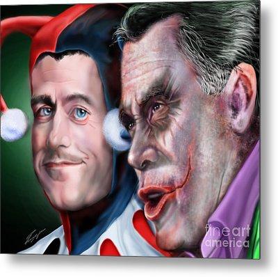 Mad Men Series  4 Of 6 - Romney And Ryan Metal Print by Reggie Duffie
