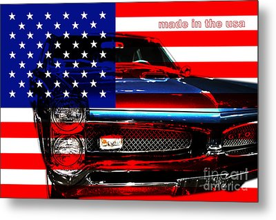 Made In The Usa . Pontiac Gto Metal Print by Wingsdomain Art and Photography