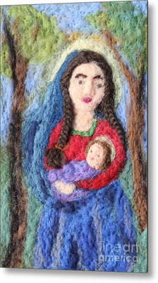 Madonna And Child Metal Print by Nicole Besack