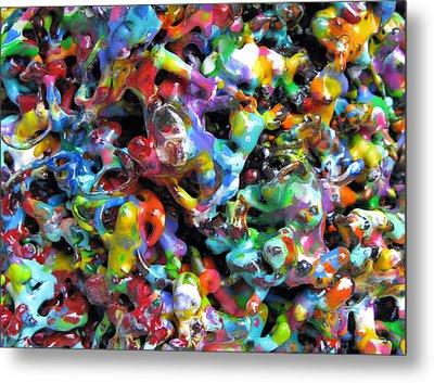 Magic  Colors  Sculpture  Nineteen  Ninety  Nine Metal Print by Carl Deaville