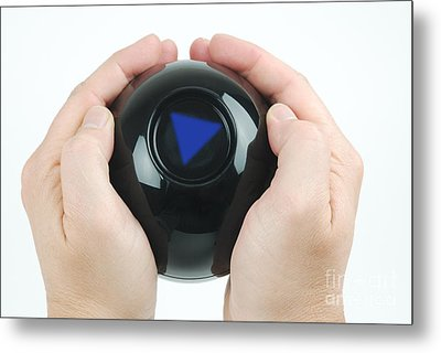 Magic Eight Ball, No Message Metal Print by Photo Researchers, Inc.