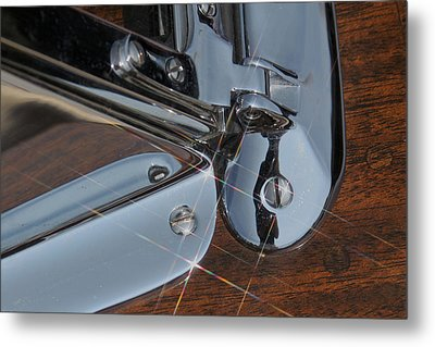 Mahogany And Chrome Metal Print by Steven Lapkin