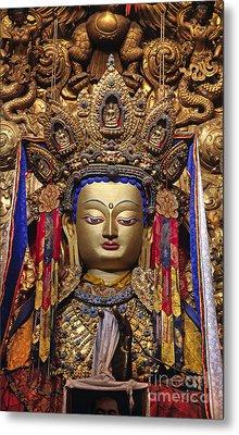 Maitreya Statue - Jokhang Temple Tibet Metal Print by Craig Lovell