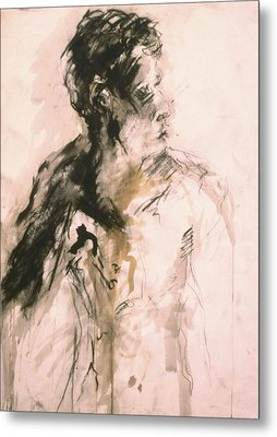 Male Portrait 3 Metal Print by Iris Gill
