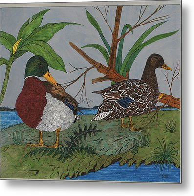 Mallards Metal Print by Tommy Combs