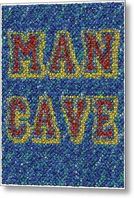 Man Cave Bottle Cap Mosaic Metal Print by Paul Van Scott