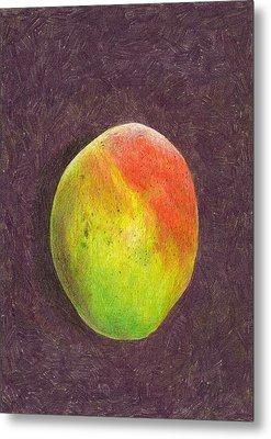 Mango On Plum Metal Print by Steve Asbell