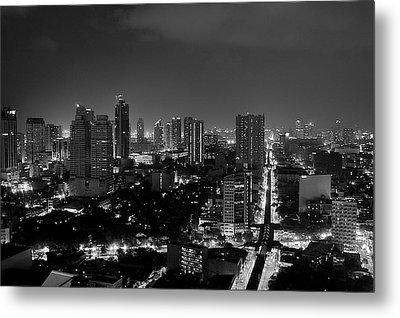 Manila Skyline Metal Print by Arj Munoz