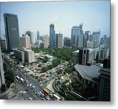 Manila Skyline Metal Print by John Wang