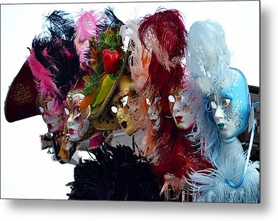 Many Faces Of Venice. Metal Print by Terence Davis