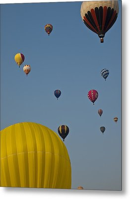 Many People Lift Off In Hot Air Metal Print by Stacy Gold