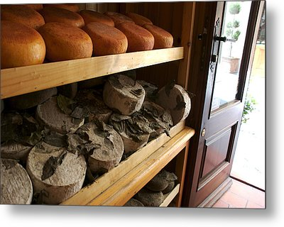 Many Varieties Of Pecorino Cheese Line Metal Print by Heather Perry