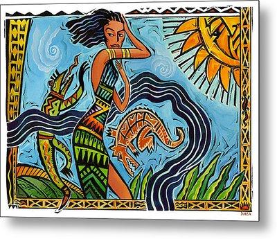 Maori Woman Dance Metal Print by Shawn Shea