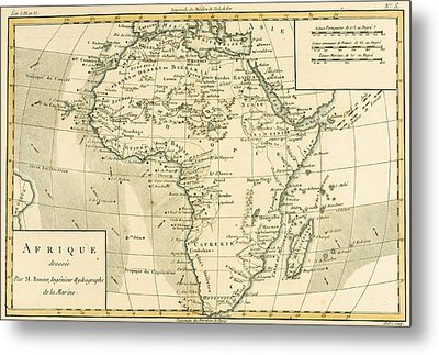 Map Of Africa Metal Print by Guillaume Raynal