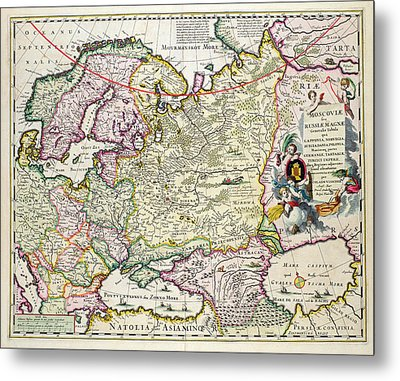 Map Of Asia Minor Metal Print by Nicolaes Visscher