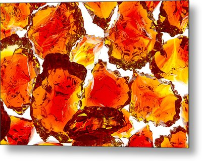 Marble Red Crackle Broken 1 B Metal Print by John Brueske
