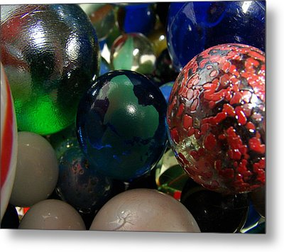 Marbles Around The World Metal Print by K Walker