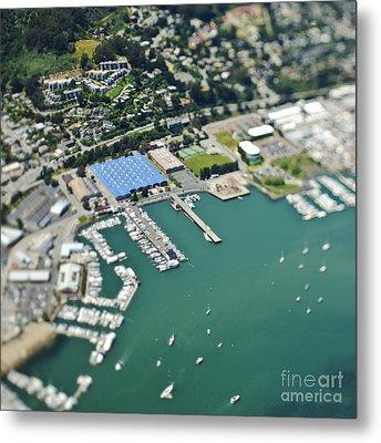 Marina And Coastal Community Metal Print by Eddy Joaquim