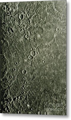 Mariner 10 Mosaic Of Mercury Showing Metal Print by NASA / Science Source