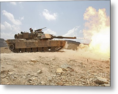 Marines Bombard Through A Live Fire Metal Print by Stocktrek Images