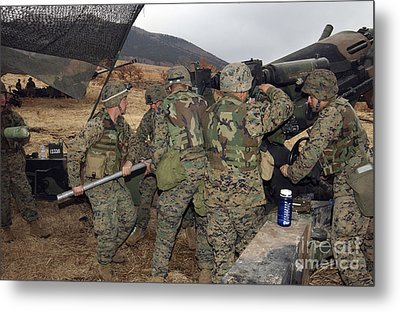 Marines Load A 98-pound High Explosive Metal Print by Stocktrek Images