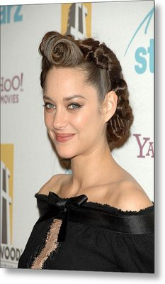 Marion Cotillard At Arrivals For The Metal Print by Everett
