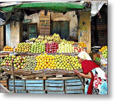 Market Of Djibuti-1 Metal Print by Jenny Senra Pampin