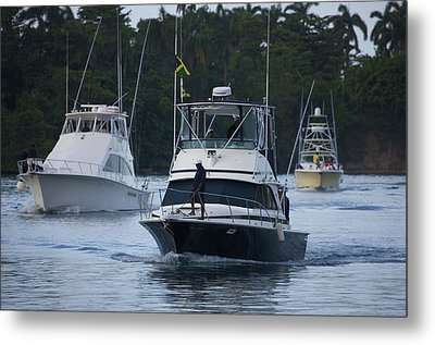 Marlin Fishing Tournament At West Metal Print by Michael Melford