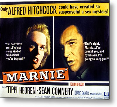 Marnie, Tippi Hedren, Sean Connery, 1964 Metal Print by Everett