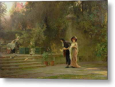 Married For Love Metal Print by Marcus Stone
