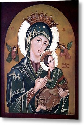 Mary And Jesus Metal Print by Lena Day