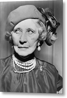 Mary Garden 1874-1967, At The Age Of 80 Metal Print by Everett