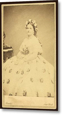 Mary Todd Lincoln 1818-1882 Metal Print by Everett