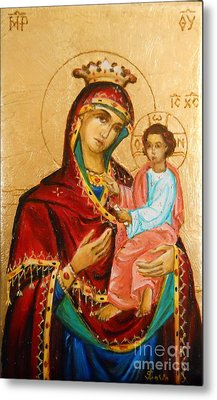 Mary With Jessus R.3 Metal Print by Sorin Apostolescu
