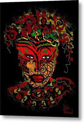Masked Beauty Metal Print by Natalie Holland