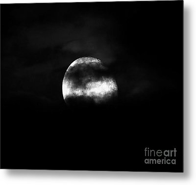 Masked Moon Metal Print by Al Powell Photography USA