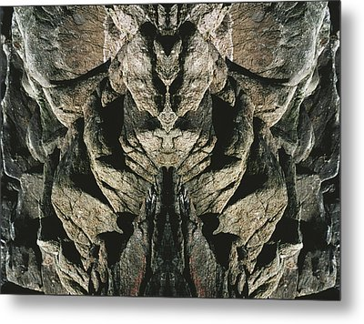 Masked Rock God Of Ogunquit  Metal Print by Nancy Griswold